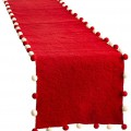 Christmas Red Felt Table Runner
