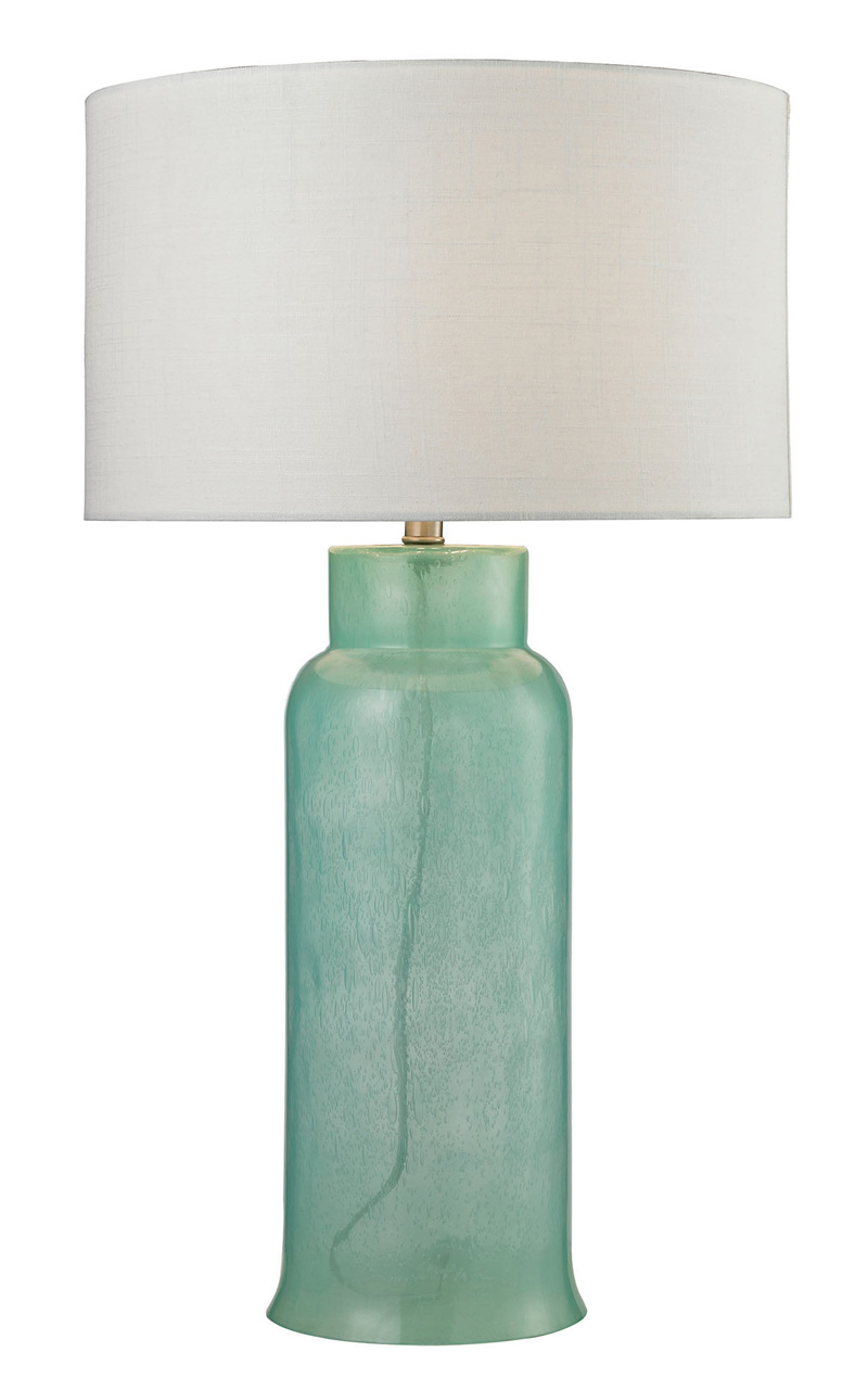 Dimond Glass Bottle Seafoam Green Table Lamp