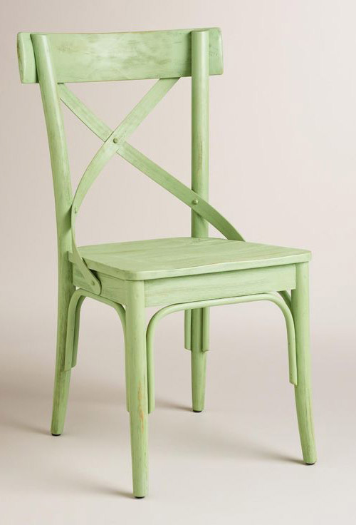 Light Green French Bistro Dining Chairs