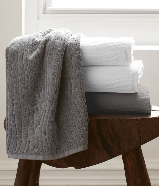 Organic Wood Grain Towels