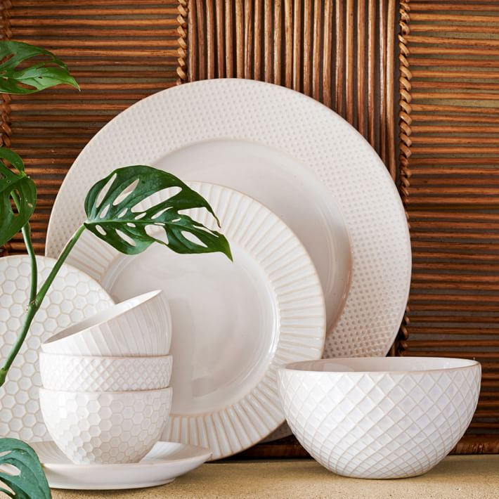 Textured Dinnerware Set