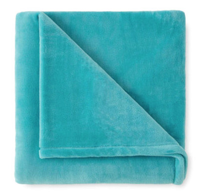 Turquoise Velvet Plush Solid Throw