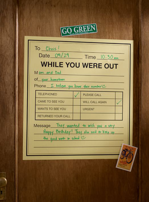 While You Were Out Message Board Decal