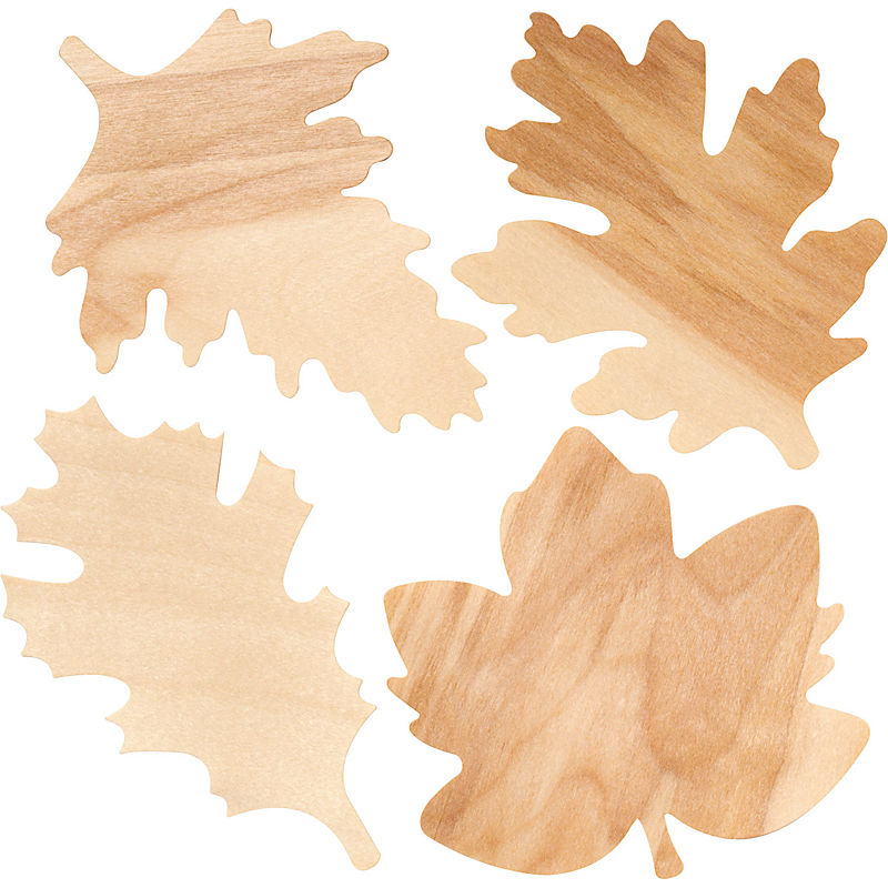 Wooden Fall Leaves