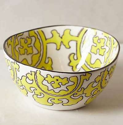 Yellow Gloriosa Cereal Bowl