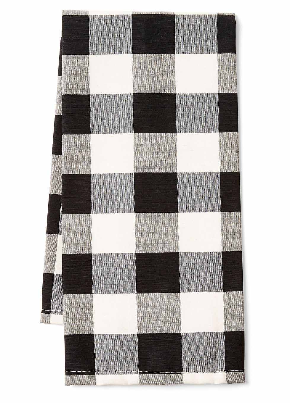 Black Buffalo Check Tea Towel Set