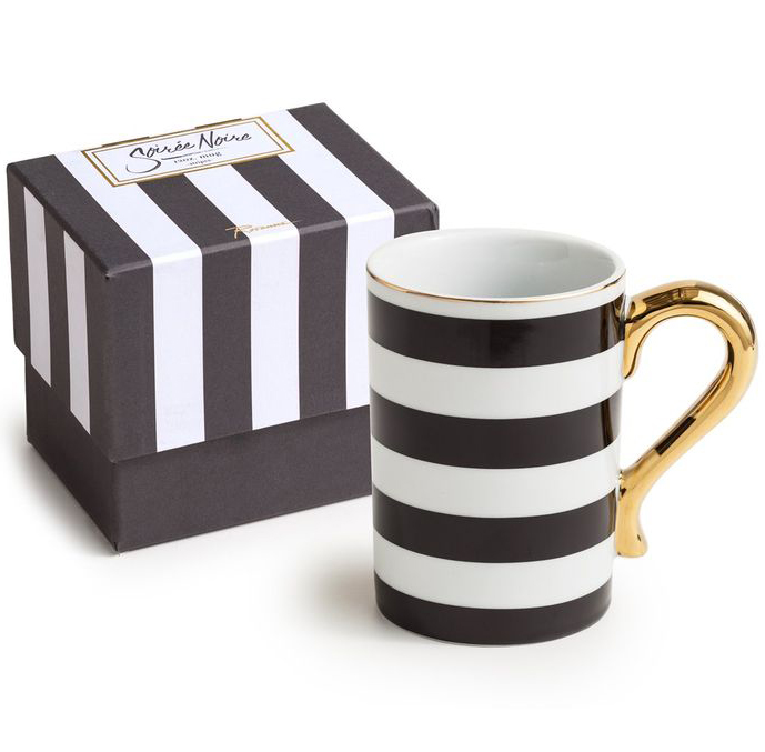 Black and White Rosanna Stripes Mug