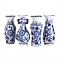 Blue and White Chinese Bud Vases