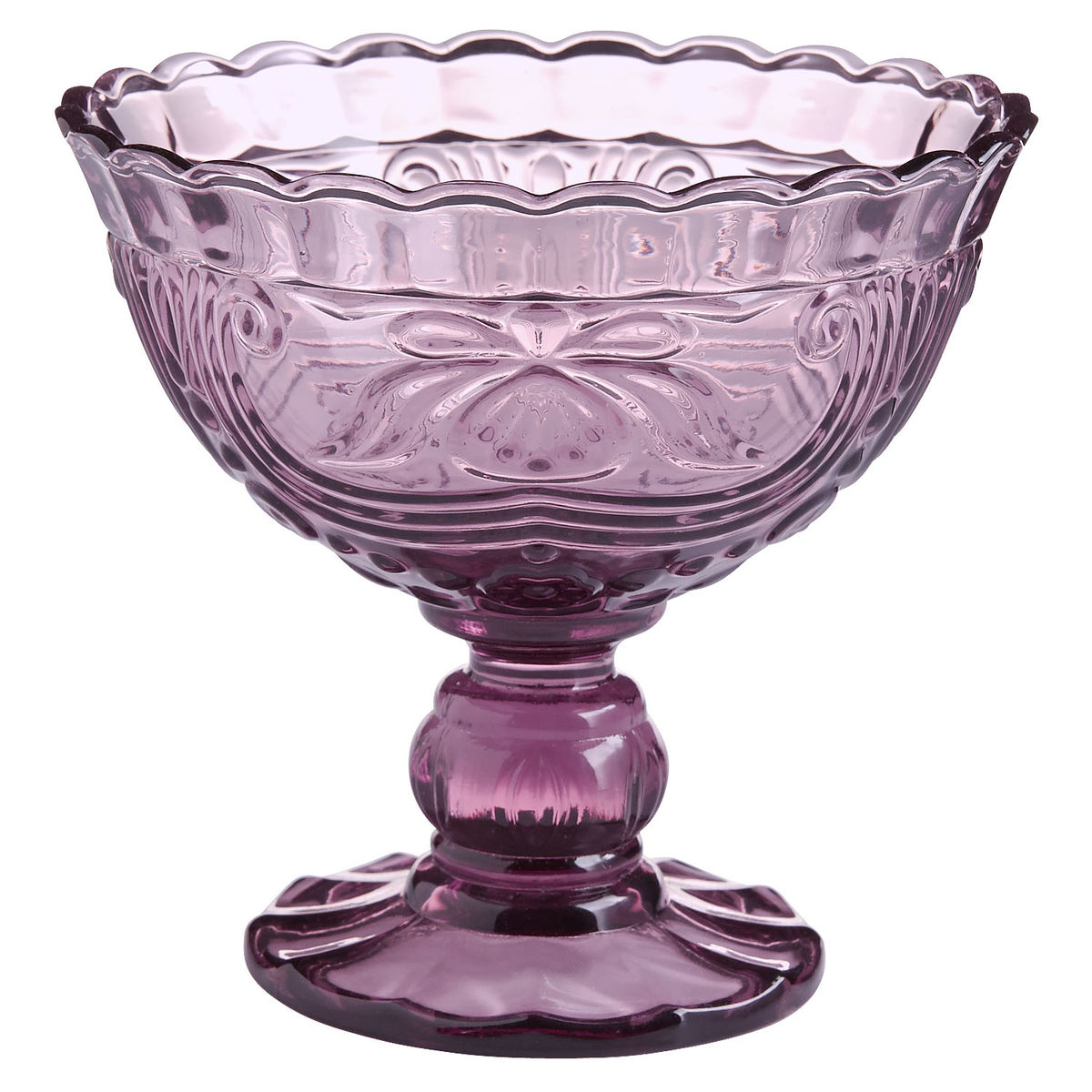 Fiona Purple Glass Dessert Cups