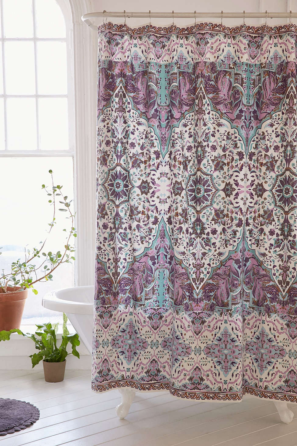 Purple Florin Shower Curtain Decor By Color