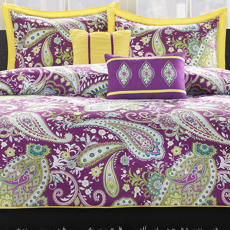 Purple Paisley Duvet Cover Home Decor