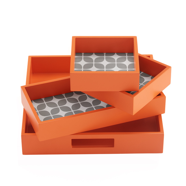 Elena 4-Piece Decorative Tray Set