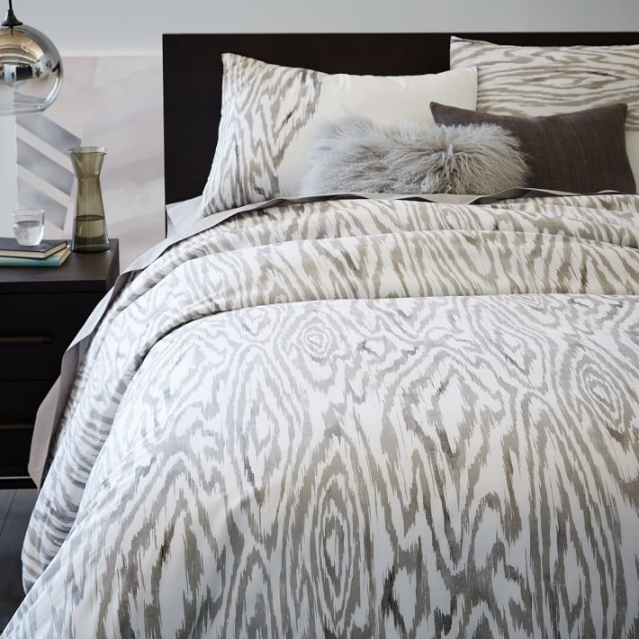 Woodgrain Ikat Duvet Cover + Shams