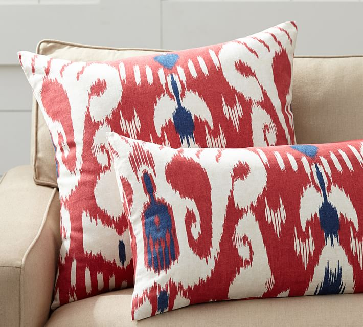 Yara Red Ikat Pillow Cover
