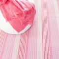 Pink Sand Ticking Woven Cotton Rug by Dash & Albert